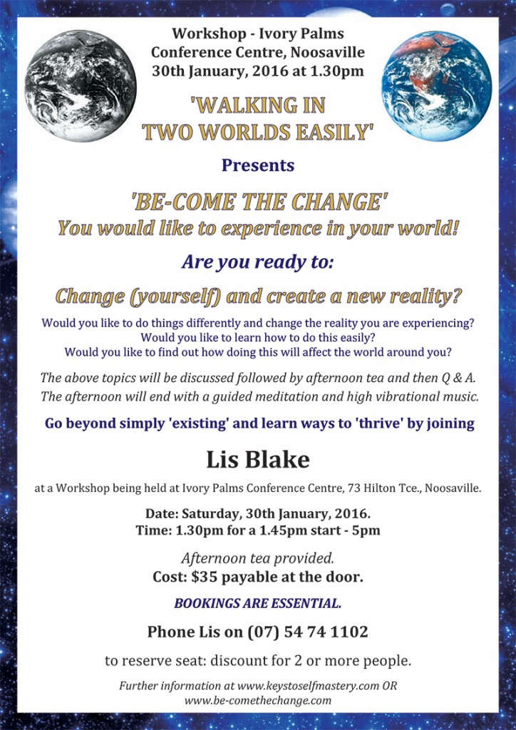 Be-come the change workshop