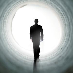Man-in-Light-Tunnel