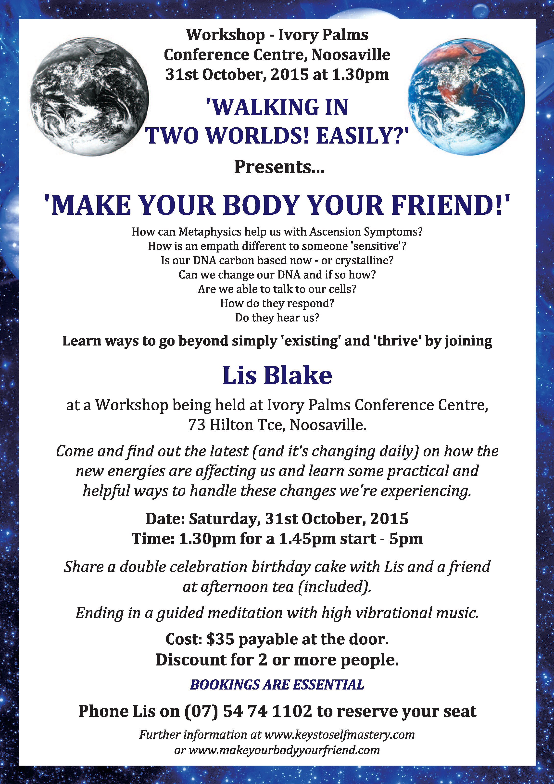 Make Your Body Your Friend Workshop